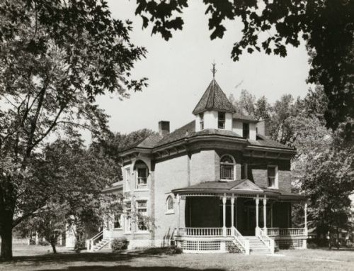 The Beyer Home, shown here in an 1952 image, is now a historic house operated by the Oconto County Historical Society. WHi-43378.