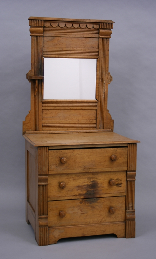 Doll-sized chest of drawers, Allen Cartwright, Oshkosh, 1893.